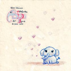Kinderhörspiel: Vom kleinen Elefanten Bippo, der ganz einsam war