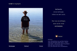 Startseite der alten Ohrenblicke-Homepage