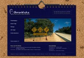 Startseite der neuen Ohrenblicke-Homepage