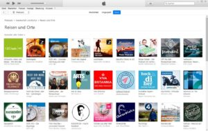 Reisepodcasts bei iTunes