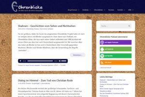 Ohrenblicke-Website im neuen Design